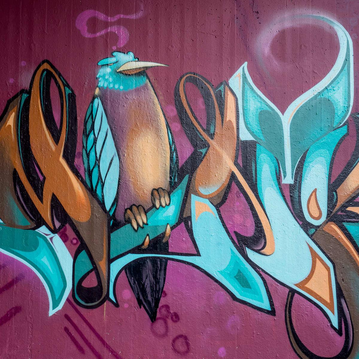 Wiesbaden - Graffito von Monkey & Bomber an der Gibb (Tannhäuserstraße)