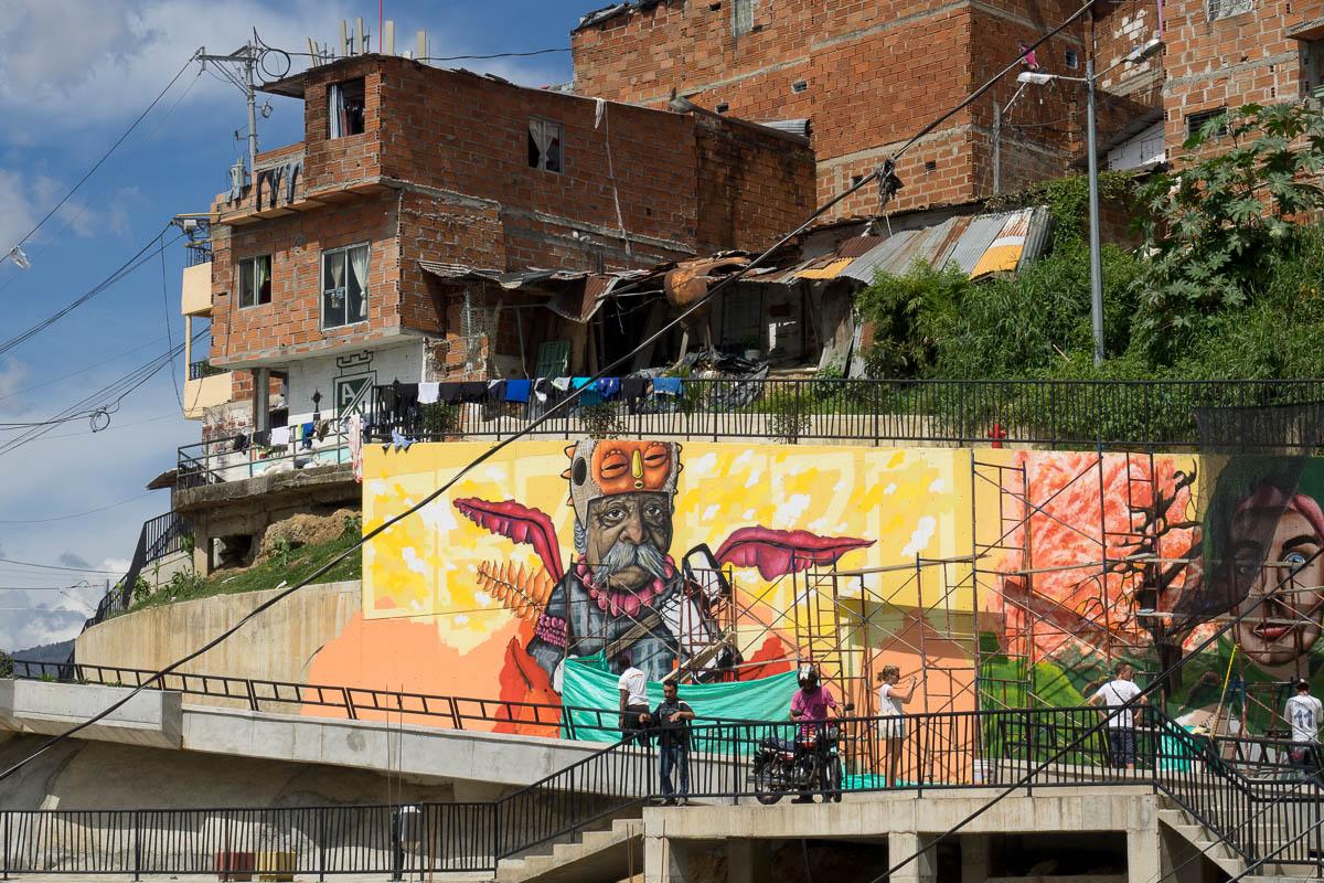Unterwegs In Kolumbien 2017 Part 07 Graffiti Von Chota13 In Der
