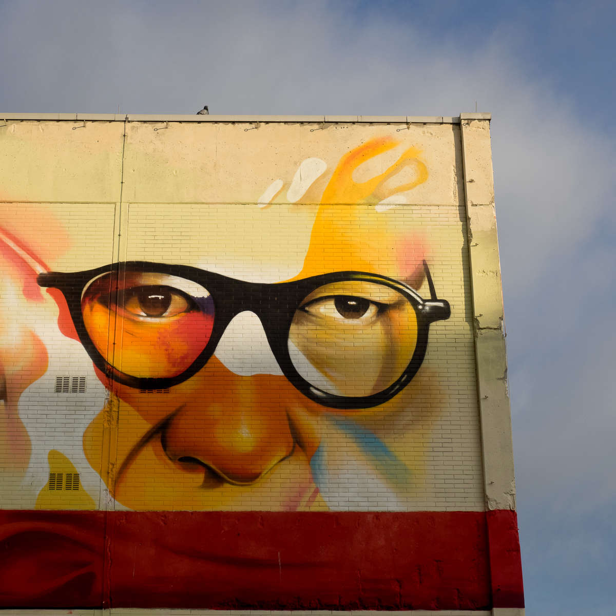 Graffiti am Campus Bockenheim in Frankfurt - Justus Becker/Cor & Oğuz Şen