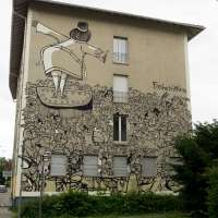 """Graffiti in Mannheim #05 - Die Murals von Stadt.Wand.Kunst - Mehrdad Zaeri """"Freiheitstesterin"""""""
