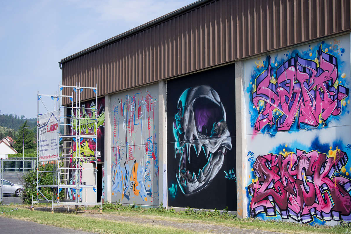 Lack & Lines Graffiti Event in Wächtersbach - Work in progress - Mai 2018