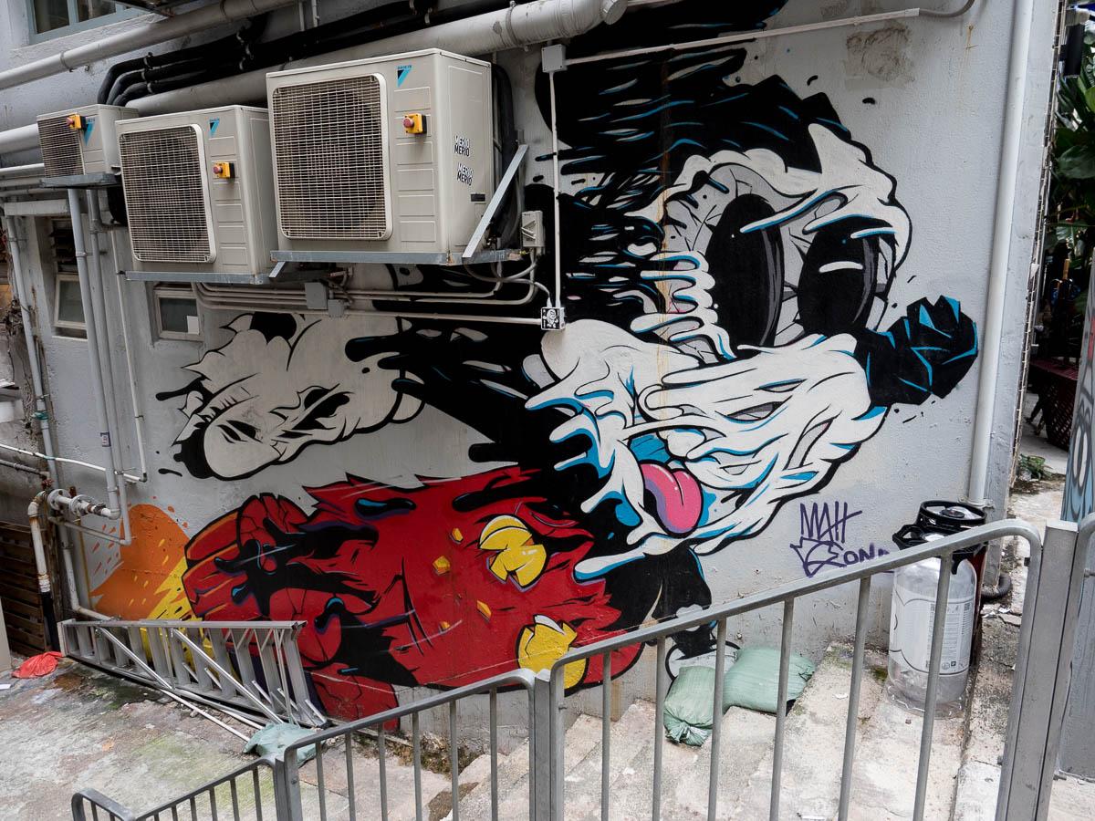 Reise durch Asien 2019 #10 Graffiti in Hongkong