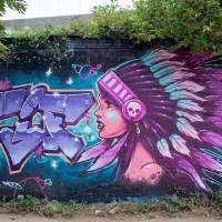 Graffiti & Street Art rund um den Schlachthof Wiesbaden (11/2019)
