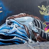 Frankfurt - Graffiti am Ratswegkreisel (103) - März bis September 2020