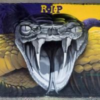 Graffiti Freiluftgalerie unter der Friedensbrücke in Frankfurt (09/2020)