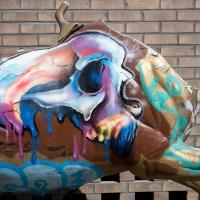 Graffiti an der Naxoshalle in Frankfurt (09/2020)