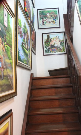 More artworks upstairs.