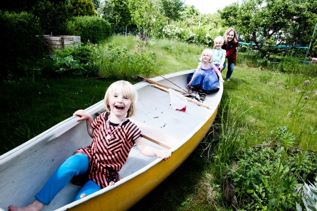 """As soon as the family bought the house Marcus said """"We need a canoe"""""""
