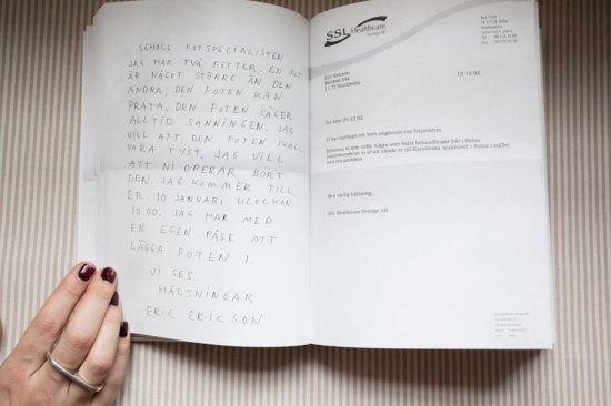 The book Korrespondens by Eric Ericson