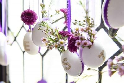 Hanging Floral Egg Vases