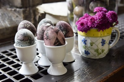 Hibiscus Tea-dyed Eggs