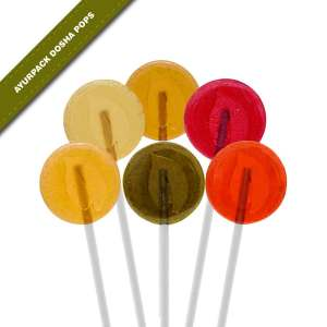 6-pack view of Dosha Pops' Ayurpack Assorted Dosha Pops lollipops