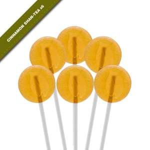 6-pack view of Dosha Pops' Cinnamon Shan-Tea lollipops