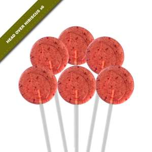 6-pack view of Dosha Pops' Head Over Hibiscus lollipops