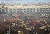 করোনাভাইরাস: চীনে কীভাবে মাত্র ১০ দিনে তৈরি হলো হাসপাতাল