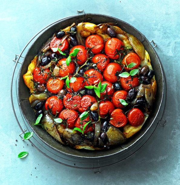 vegan tomaten tarte tatin