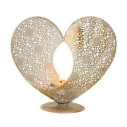 Suport lumânare inimă metalică, doar 59 RON!