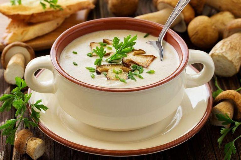 Грибной суп пюре на сковороде (рецепт)