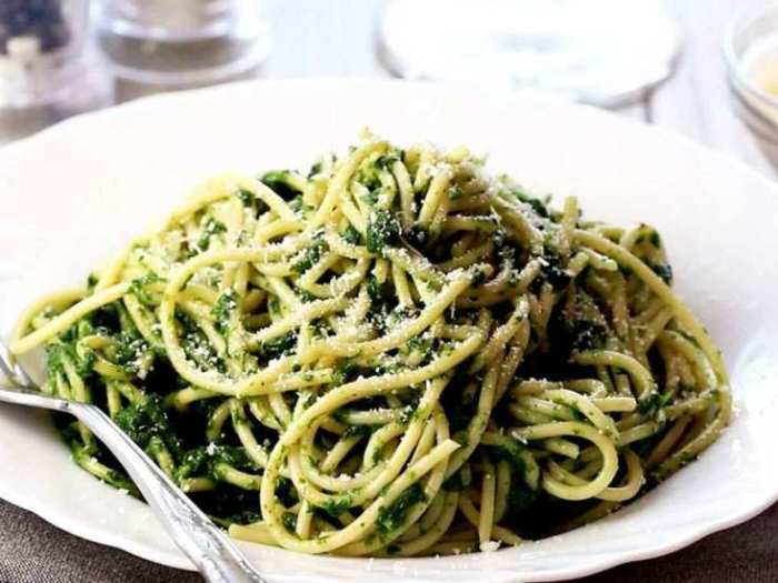 Паста со шпинатом (рецепт)