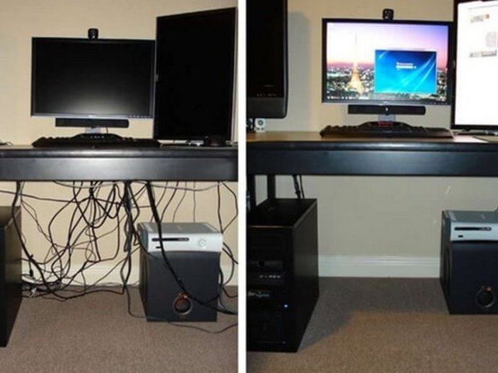 Как спрятать провода от компьютера: простые решения для дома
