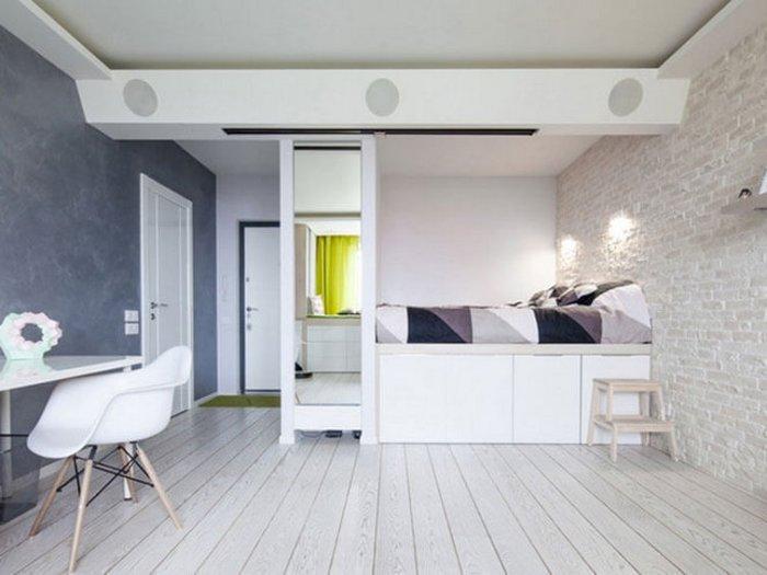 Экономия пространства в спальне