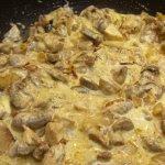 Картофель с грибами тушеные в сливках рецепт приготовления