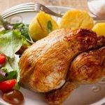 Фаршированный цыпленок корнишон в духовке