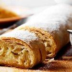 Быстрый рецепт штруделя с грушей, орехами и сухофруктами