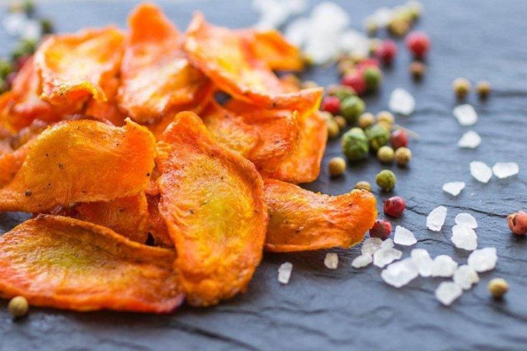 Рецепт морковных чипсов