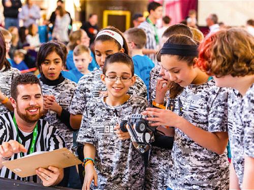 Olathe Santa Fe Trail Students review project