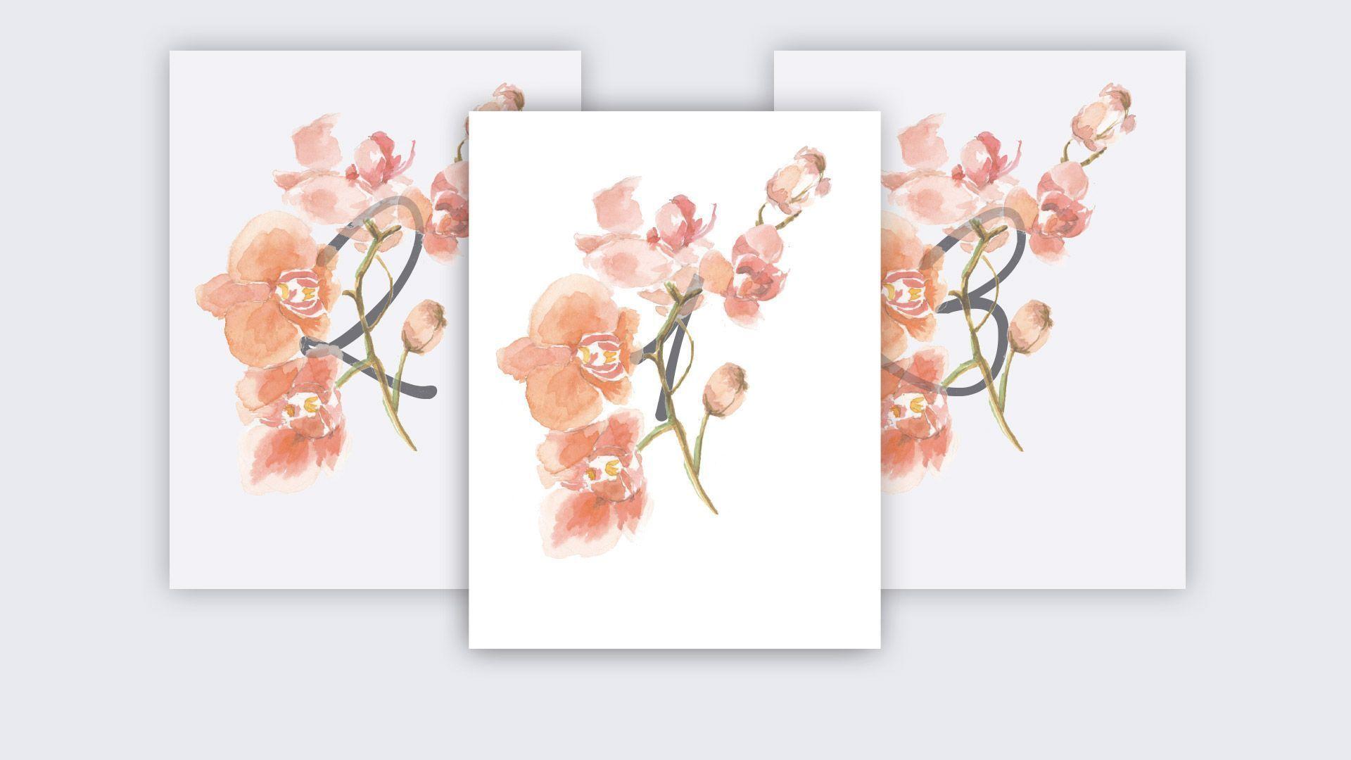 mesa mesero orquídea boda acuarela
