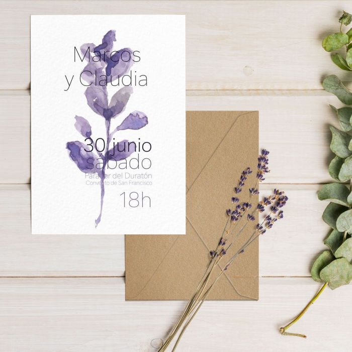 Invitación de boda a mano de marcos y Claudia