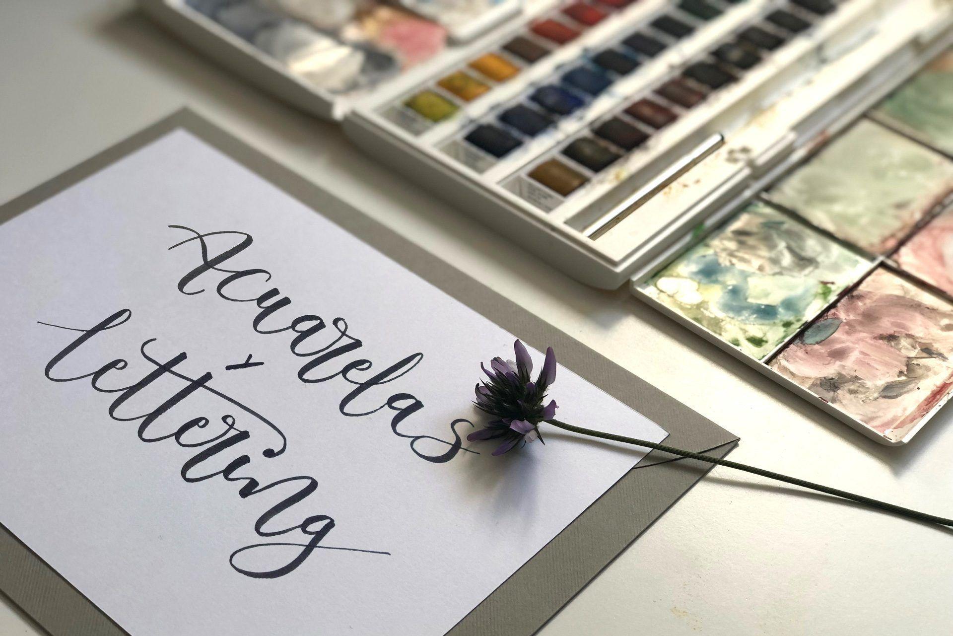 Acuarela y lettering para invitaciones y eventos
