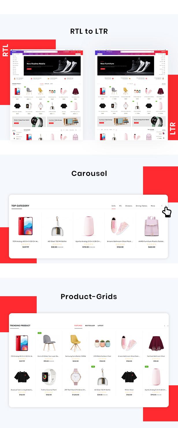 Quixly Multipurpose Opencart Responsive theme - 4