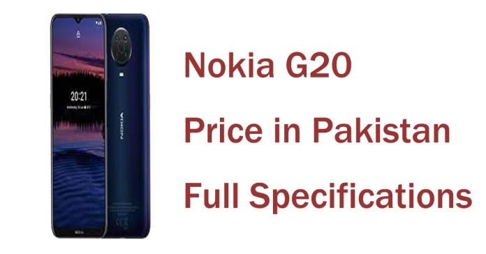 Nokia G20 price in Pakistan