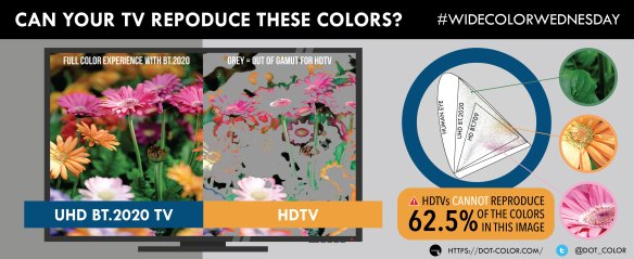 Wide Color Gamut image analysis
