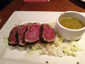 I enjoyed seared ahi tuna for my fish challenge last night. It was delicious. Is sushi in my future?