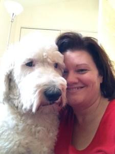Meet my new diet buddy -- Peekabu, my chunkie Old English Sheep Dog.