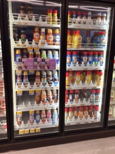 Texans love coffee creamer. Two refrigerators dedicated to just this junk.