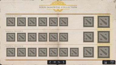 TI5 compendium immortal collection