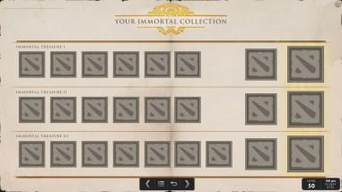 TI5 compendium immortal collection