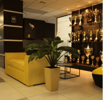 Dota 2 Na'Vi trophies and office