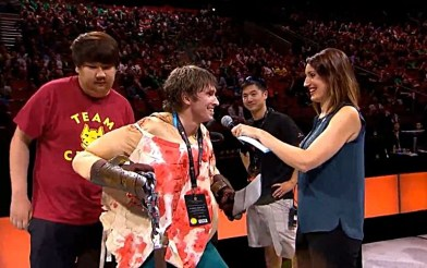 Dendi, during the TI5 All Star Match