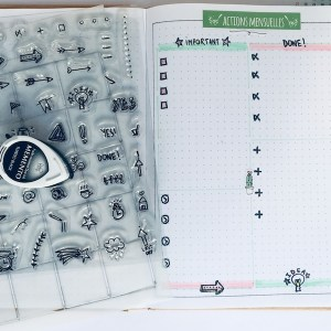 Tampon pour bullet journal