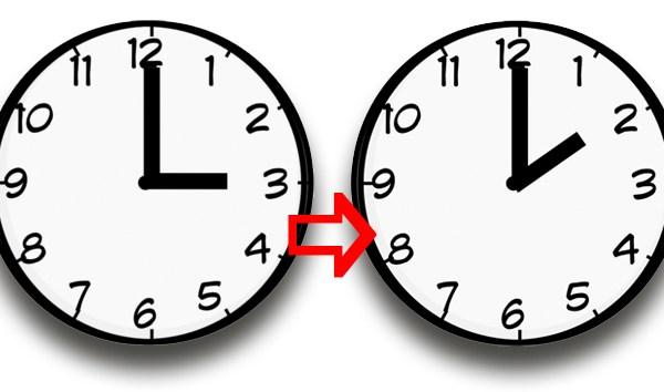 Esta noche será el cambio horario