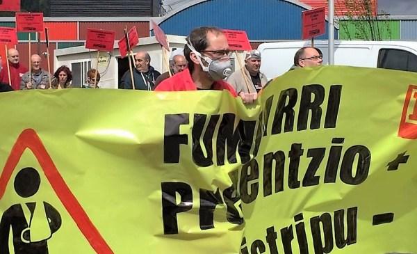 Imagen de una de las movilizaciones en Fumbarri FOTO: dotb.eus