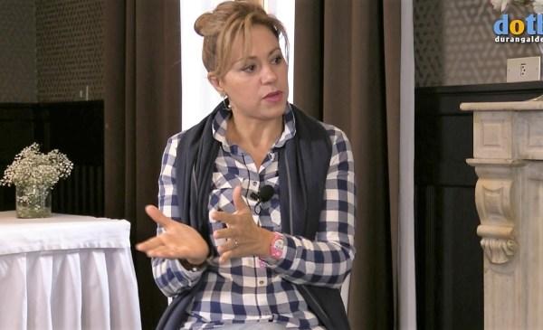 Yolanda Alzola en un momento del programa de ayer FOTO: dotb.eus