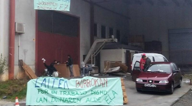[dotb.eus] Segunda semana de huelga en la empresa Laitek de Mallabia
