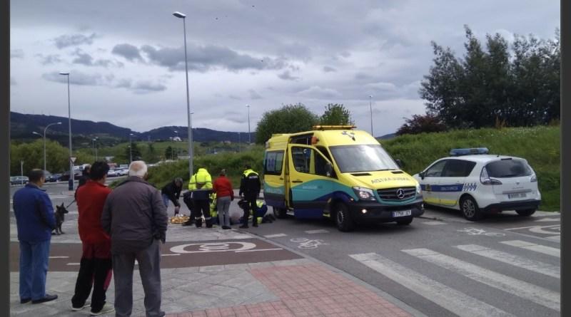 [dotb.eus] Un ciclista herido tras ser atropellado en el barrio de San Fausto