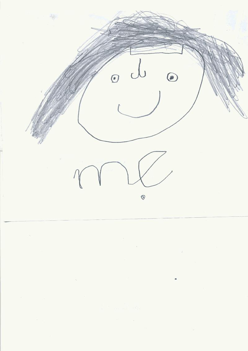 con trai vẽ mẹ thảo